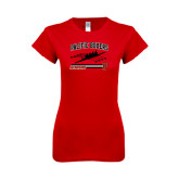 Next Level Ladies SoftStyle Junior Fitted Red Tee-Rowing