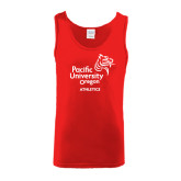 Red Tank Top-Pacific University Oregon w/Boxer