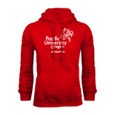 Red Fleece Hoodie-Pacific University Oregon w/Boxer