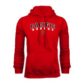 Red Fleece Hoodie-Arched Pacific Boxers w/P