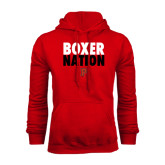 Red Fleece Hoodie-Boxer Nation