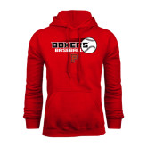 Red Fleece Hoodie-Baseball