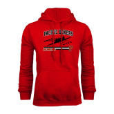 Red Fleece Hoodie-Rowing