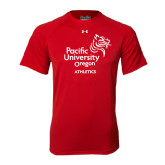 Under Armour Red Tech Tee-Pacific University Oregon w/Boxer
