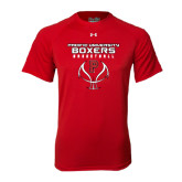 Under Armour Red Tech Tee-Graphics on Ball