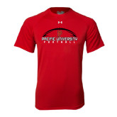 Under Armour Red Tech Tee-Flat Football Design