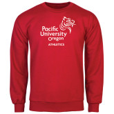 Red Fleece Crew-Pacific University Oregon w/Boxer