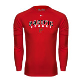 Under Armour Red Long Sleeve Tech Tee-Arched Pacific Boxers w/P