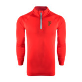 Under Armour Red Tech 1/4 Zip Performance Shirt-P