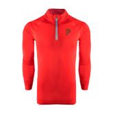 Under Armour Red Tech 1/4 Zip Performance Shirt-P