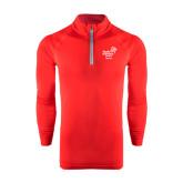 Under Armour Red Tech 1/4 Zip Performance Shirt-Pacific University Oregon w/Boxer