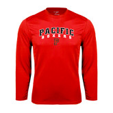 Syntrel Performance Red Longsleeve Shirt-Arched Pacific Boxers w/P