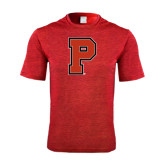 Performance Red Heather Contender Tee-P