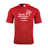 Performance Red Heather Contender Tee-Pacific University Oregon w/Boxer
