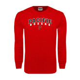 Red Long Sleeve T Shirt-Arched Pacific Boxers w/P