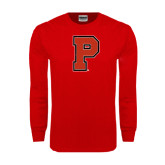 Red Long Sleeve T Shirt-P Distressed