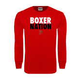 Red Long Sleeve T Shirt-Boxer Nation