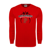 Red Long Sleeve T Shirt-Graphics in Ball