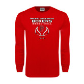 Red Long Sleeve T Shirt-Graphics on Ball