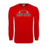 Red Long Sleeve T Shirt-Pacific Boxers Arched Football