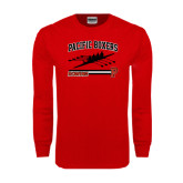 Red Long Sleeve T Shirt-Rowing
