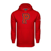Under Armour Red Performance Sweats Team Hoodie-P