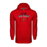 Under Armour Red Performance Sweats Team Hoodie-Graphics in Ball