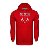 Under Armour Red Performance Sweats Team Hoodie-Graphics on Ball