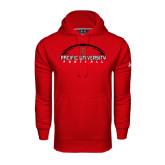Under Armour Red Performance Sweats Team Hoodie-Flat Football Design