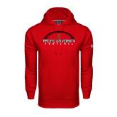 Under Armour Red Performance Sweats Team Hoodie-Flat Football Design