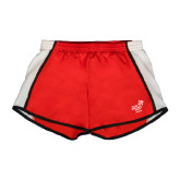Ladies Red/White Team Short-Pacific University Oregon w/Boxer