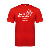 Syntrel Performance Red Tee-Pacific University Oregon w/Boxer