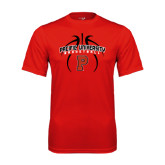 Performance Red Tee-Graphics in Ball