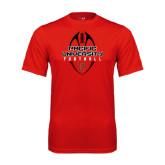 Performance Red Tee-Tall Football Design