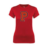 Ladies Syntrel Performance Red Tee-P