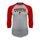 Grey/Red Raglan Baseball T Shirt-Arched Pacific Boxers w/P