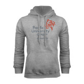 Grey Fleece Hoodie-Pacific University Oregon w/Boxer