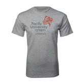 Grey T Shirt-Pacific University Oregon w/Boxer