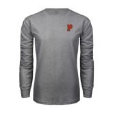 Grey Long Sleeve T Shirt-P