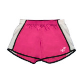 Ladies Fuchsia/White Team Short-Pacific University Oregon w/Boxer