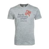 Next Level SoftStyle Heather Grey T Shirt-Pacific University Oregon w/Boxer