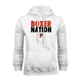 White Fleece Hoodie-Boxer Nation