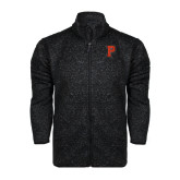 Black Heather Fleece Jacket-P