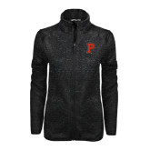 Black Heather Ladies Fleece Jacket-P