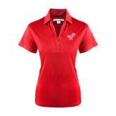 Ladies Red Performance Fine Jacquard Polo-Pacific University Oregon w/Boxer