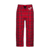 Red/Black Flannel Pajama Pant-Pacific University Oregon w/Boxer