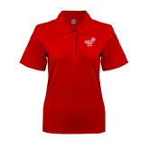 Ladies Easycare Red Pique Polo-Pacific University Oregon w/Boxer
