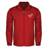 Full Zip Red Wind Jacket-Pacific University Oregon w/Boxer