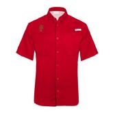 Columbia Tamiami Performance Red Short Sleeve Shirt-P