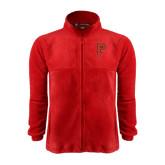 Fleece Full Zip Red Jacket-P